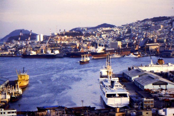 View of Pusan Port in 1991
