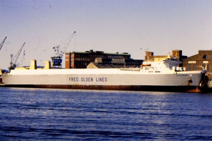Norwegian ro-ro 'Bohemund' of 1975