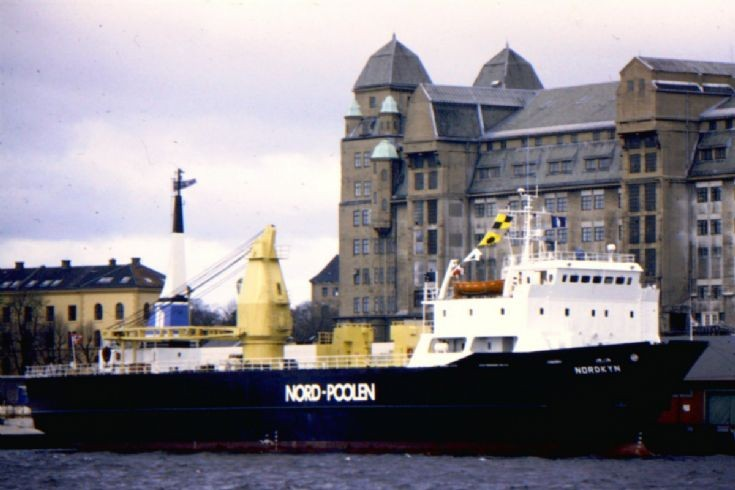 Norwegian cargo ship 'Nordkyn' of 1979