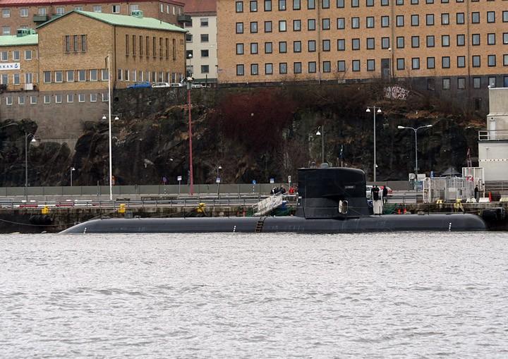 HSwMS Södermanland moored in Gothenburg