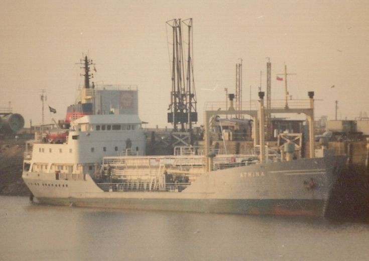Swedish gas carrier 'Athina' of 1971