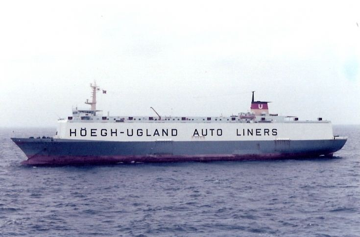 Norwegian car carrier 'Laurita' of 1970