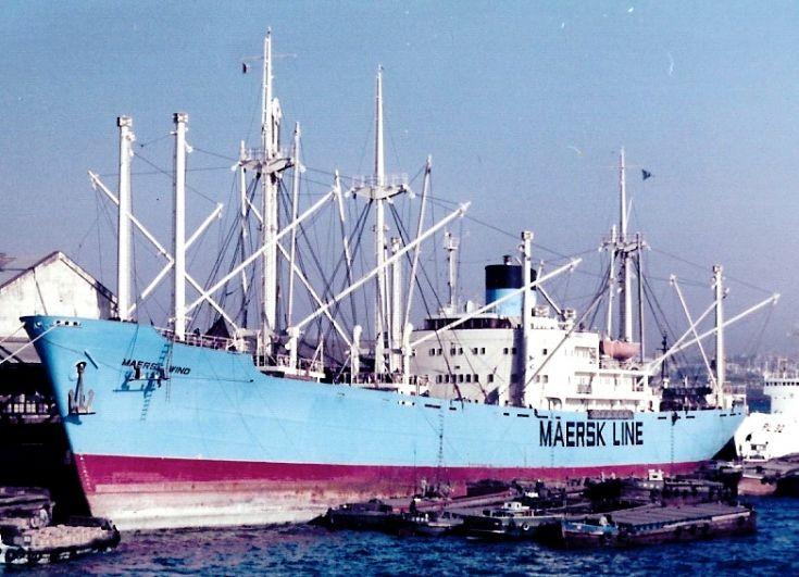 Liberian cargo ship 'Maersk Wind' of 1957
