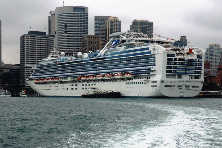 Cruise ship moored in Sydney