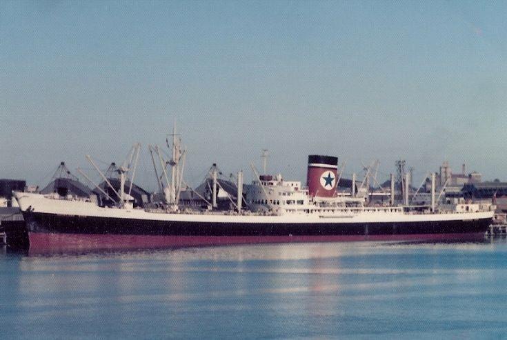 British cargo ship 'Auckland Star' of 1953