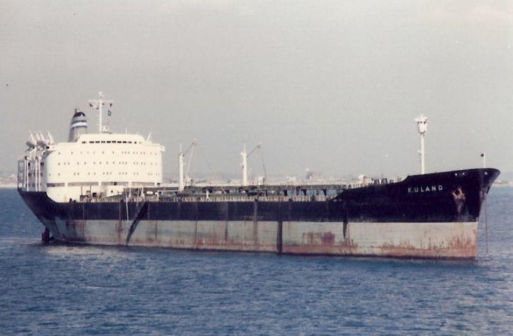Panamanian tanker 'Kuland' of 1962