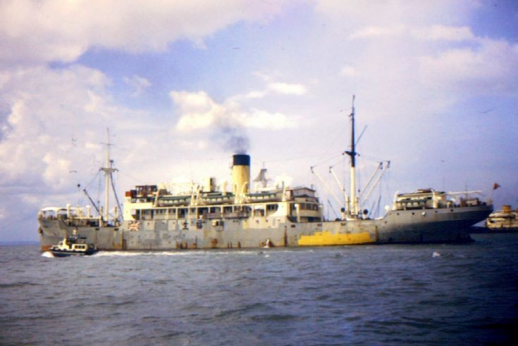 Ships and Harbours Photos - old cargo ship at Singapore
