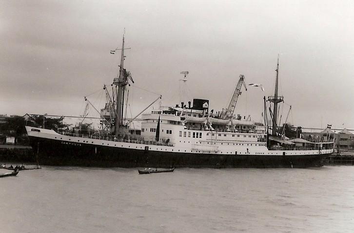 Dutch ship 'Camphyus' of 1949