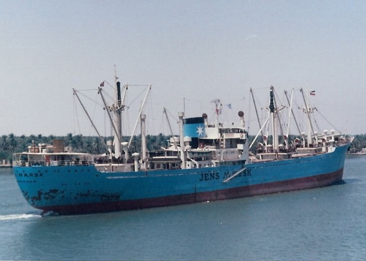 Danish cargo ship 'Jens Mærsk' of 1957