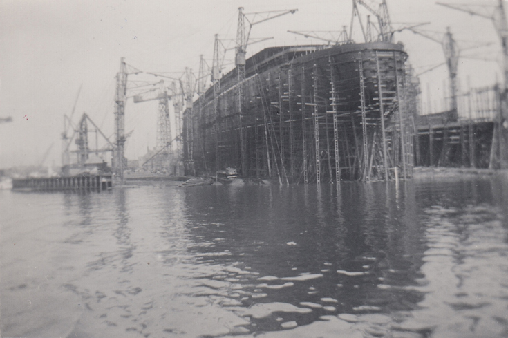 Queen Elizabeth under construction