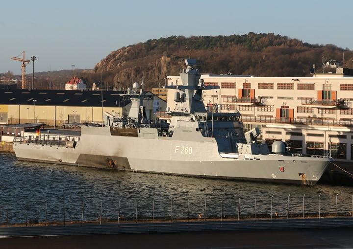 F260 Braunschweig moored in Gothenburg