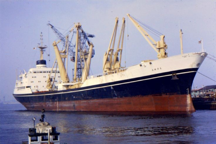 Ships and Harbours Photos - British cargo ship 'Amra' of 1969 (2)