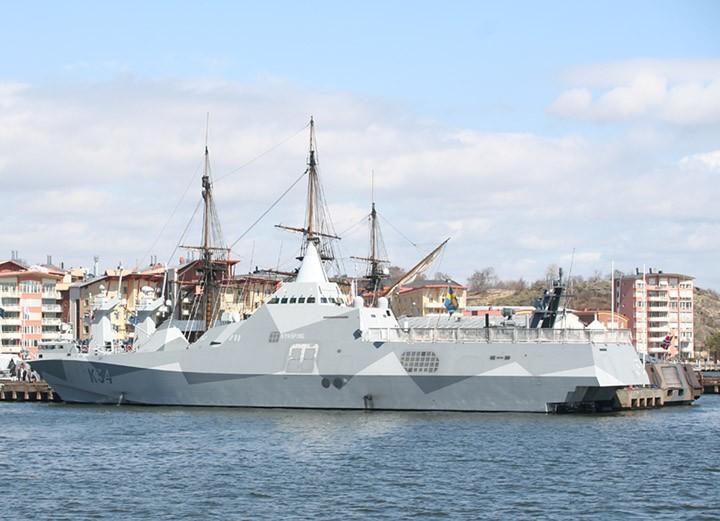HSwMS Nyköping K34 at Eriksberg, Göta Älv
