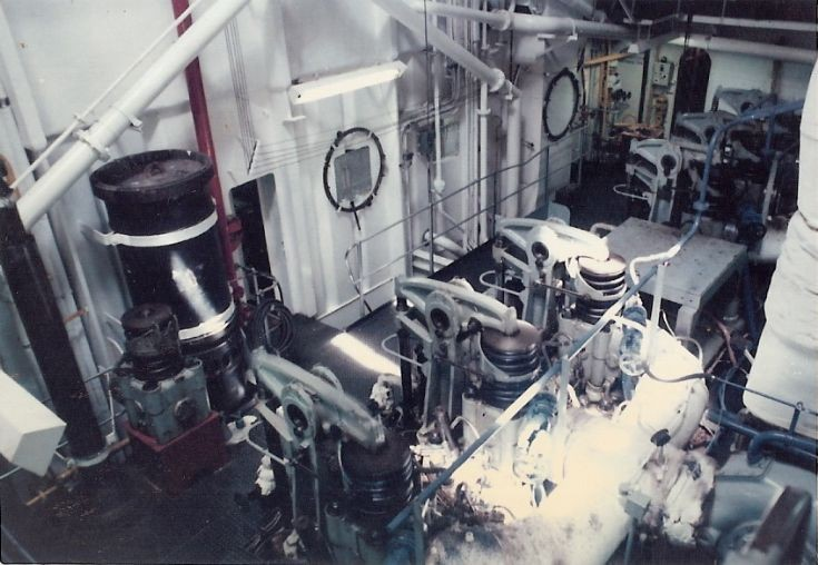 'Amra's' Engine Room
