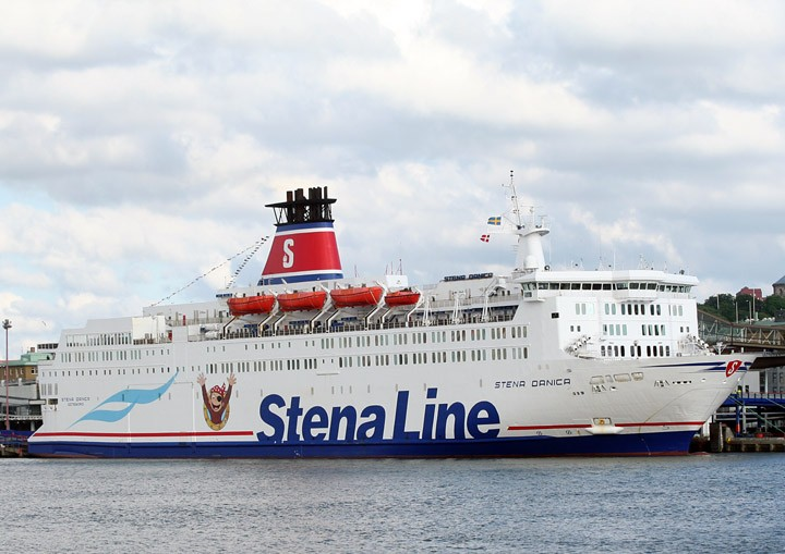 Stena Danica moored in Gothenburg.