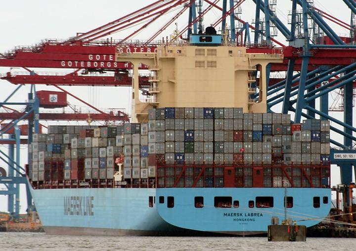 Maersk Labrea at Skandiahamn
