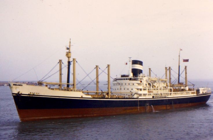British cargo ship 'Warina' of 1955