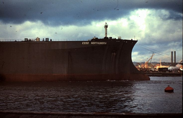 Esso Northumbria after launch