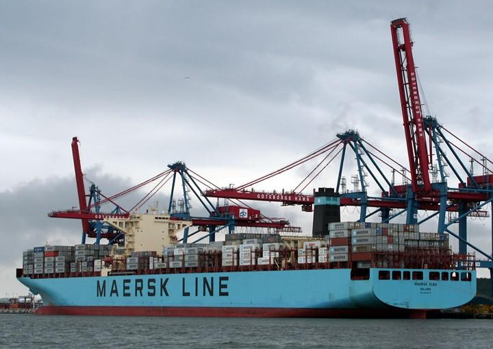 Maersk Elba at Skandiahamn