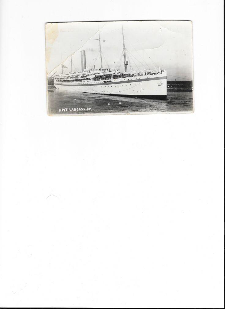 hmt lancashire postcard