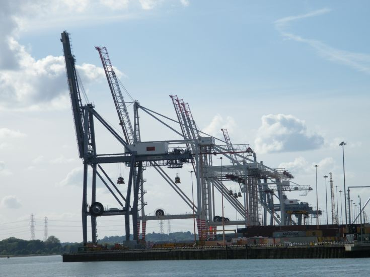 Southampton Docks from Marchwood