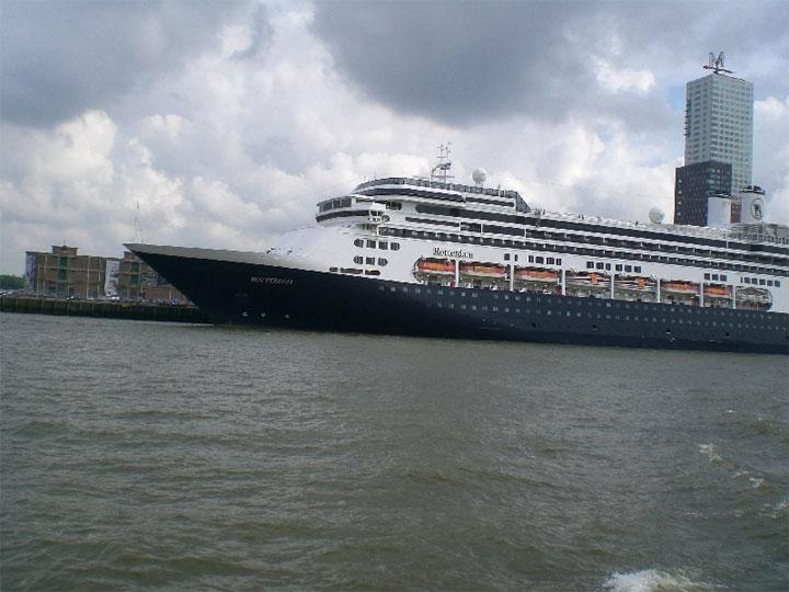 Cruiseship Rotterdam in Rotterdam