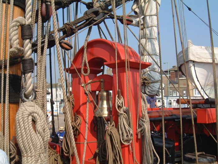 HM Bark Endeavour ship's bell