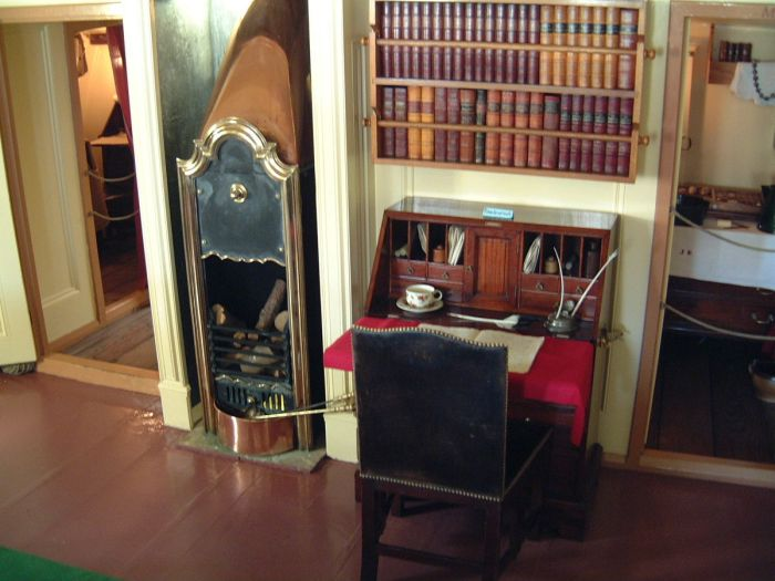 Captain Cook's writing desk on HM Endeavour