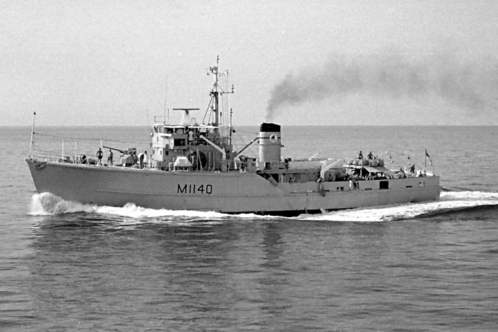 HMS Gavinton, minesweeper, in the Gulf, 1969