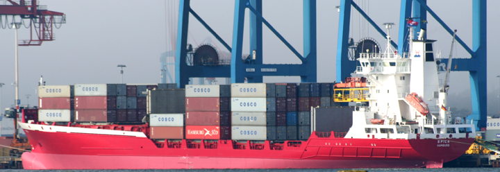 Spica - container ship at Gothenburg