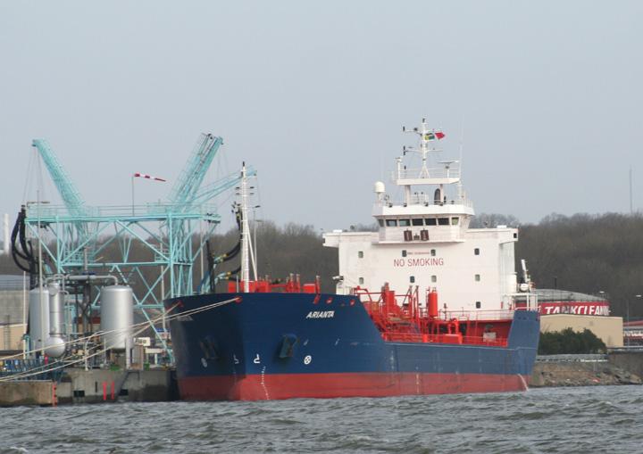 SS Arianta tanker in Gothenburg