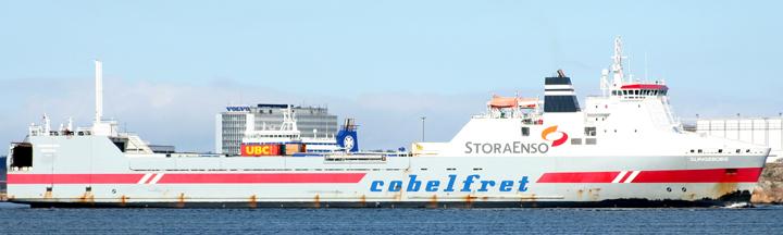 Slingeborg entering Gothenburg