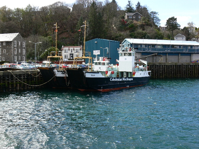 2 of the smaller Calmac ferries at Oban