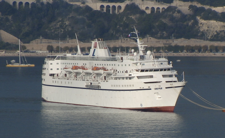 Cruise Ship The Calypso at Villefrance - France