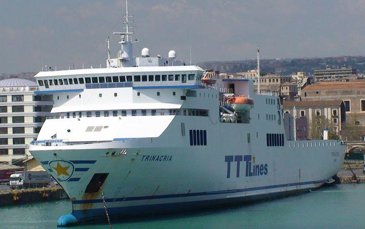 TTT Lines Ro-Ro Trinacria berthed in Catania