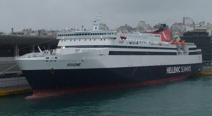 Ferry Ariadne in harbour of Piraeus, Greece