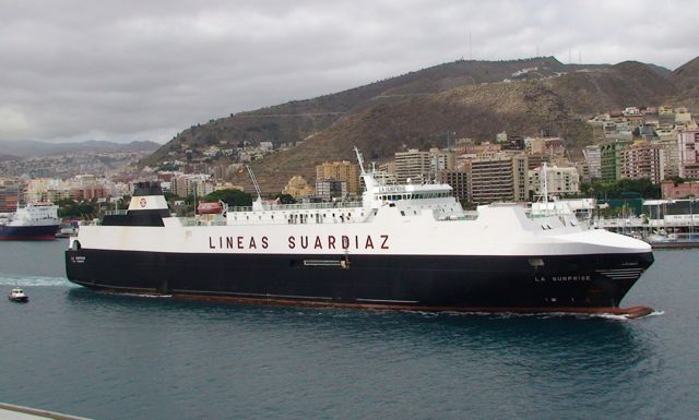 RORO vessel La Surprise in Tenerife, Canaries