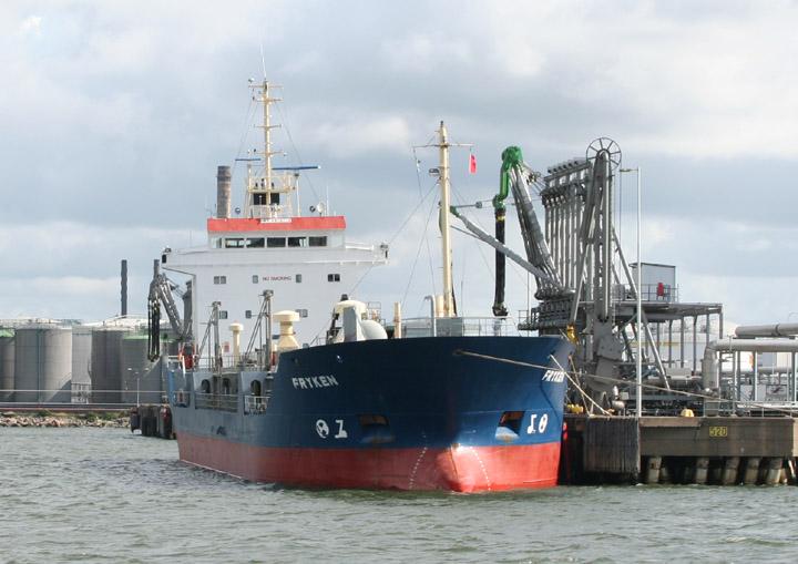 Fryken - motor tanker moored at Gothenburg