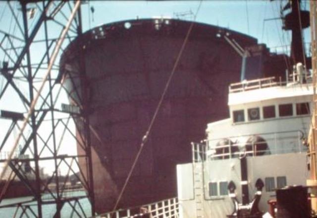 half section of 500.000 ton tanker