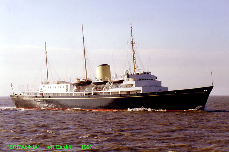 Passenger ship Britannia seen off Cardiff 1997
