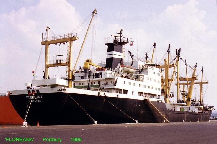 Cargo vessel Floreana berthed in Portbury 1999