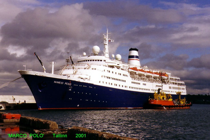 Cruise ship Marco Polo in Tallinn, Estonia