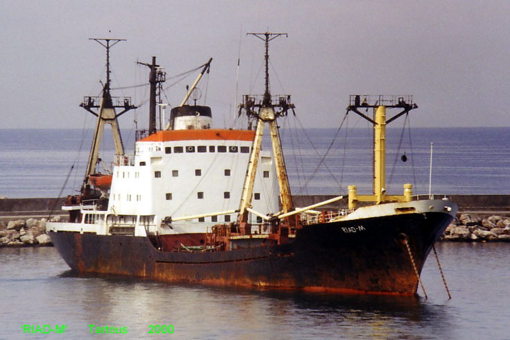 Cargo ship Riad-M in Syrian harbour Tartous