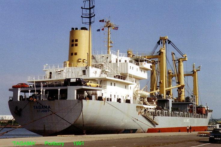 St John's registered Cargo ship Tagama