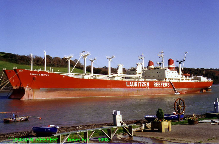 Lauritzen Reefers' Tunisian Reefer in River Fal