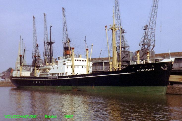 Cargo ship Volochaevsk moored in Bristol