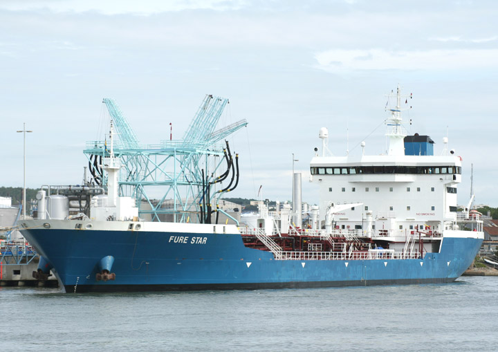 Fure Star moored in Gothenburg
