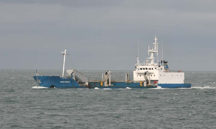 The Dredger Schotsman passing Vlissingen