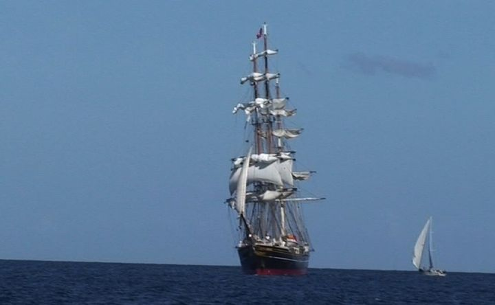 Tall ship Stad Amsterdam at Grenadines