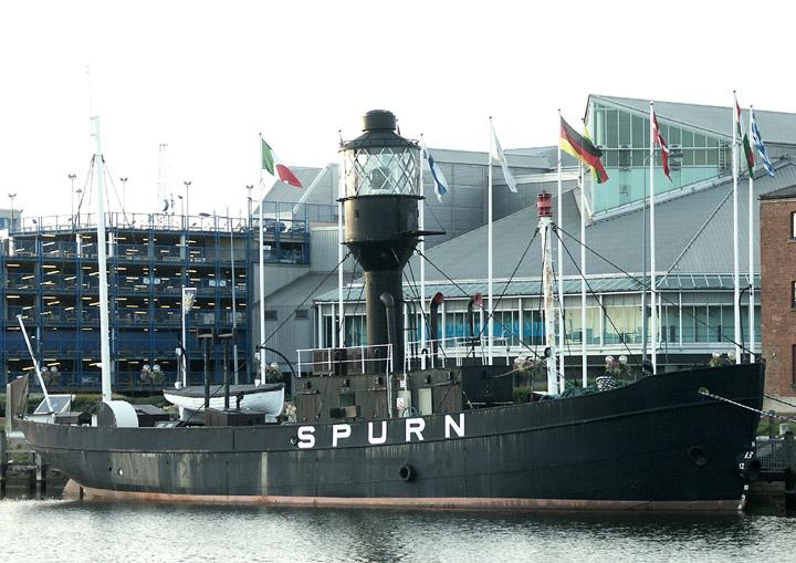 Spurn Lightship moored in Hull Marina